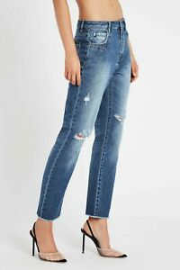 Sass & Bide ATOMIC jeans Distressed Embellished NEW RRP $280 Size 32 Free Post