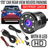 Waterproof 170° CMOS Car Rear View Backup Camera Reverse 8LED Night Vision Cam
