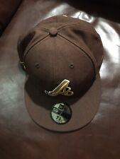 7 5/8 Walnut Brown Atlanta ATL Braves Hat New Era 59fifty