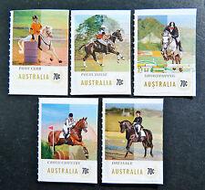 Australian Decimal Stamps:2014 Equestrian Events-Set 5 Singles-Peel & Stick MNH