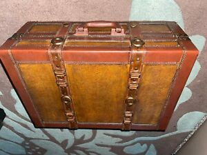 vintage leather trunk mystery to as where from