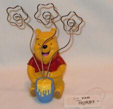 Disney Winnie The Pooh Honey Pot Figurine Metal Flower Picture Photo Note Holder