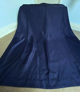 """Dark Blue Textured Weave Lined Eyelet Curtains by George 66"""" x 72"""""""