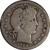 1914-S Barber Quarter G  NICE EYE APPEAL