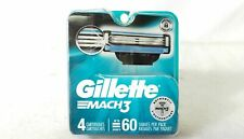 Gillette Mach3 Men's Razor Blade Refill Cartridges 4 Count