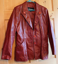 Wilson Fitted Button Leather Jacket  - Women's Size 16 - Excellent Condition