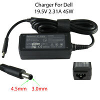 Ac Adaptor Charger Replacement For Dell Laptops 19.5V 2.31A 45W 4.5mm x 3.0mm UK