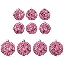 Christmas Tree Decoration - Bobble Baubles - Pink - Choose Size