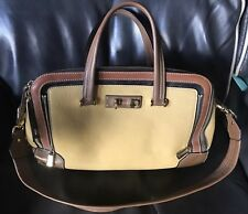 Furla BG04 BNC Mediterranean Leather Tan And Brown Made In Italy MSRP $895.00
