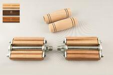 Pedali e manopole in legno per bici vintage e classica