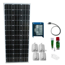 Solar Kit 100W/12V mono, Schaudt LR 1218 for RV's (w/ glue, cable, fixture set)