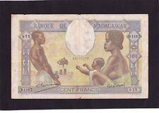 Madagascar 100 Francs  1937  P-40    F
