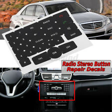 For Mercedes 2008-2016 Black Radio Stereo Button Repair Decals Stickers Repair