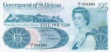P7b Sant 'Elena 1976 Cinque sterline banconote in ottime condizioni