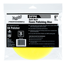 "Meguiar's Professional Soft Buff 6"" Yellow Foam Polishing Disc No Swirls DFP6"