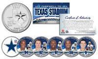 DALLAS COWBOYS 6-Coin TX State US Quarters Set TEXAS STADIUM FAREWELL COLLECTION