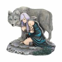 Nemesis Now Protector  and Wolf (Limited Edition) Anne Stokes Figurine 30cm
