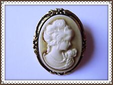 Pretty Antique Looking Cameo Brooch,Portrait,Vintage Looking,Elegant,Gift Idea