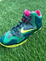 Nike Lebron 11 XI GS T-Rex Gamma Green Volt Shoes 621712-300 size 6.5 Y
