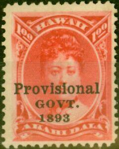 Hawaii 1894 $1 Rosine SG76 Fine Unused