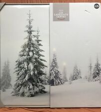 NEXT Lit Tree Landscape Canvas Christmas Decoration White Snow Picture LED Light