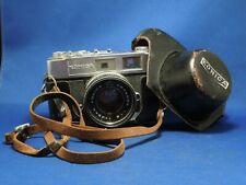 Vintage Konica Hexanon Camera f=45mm 389637 W/ Case & Strap