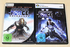 2 PC SPIELE BUNDLE - STAR WARS - FORCE UNLEASHED I & II ULTIMATE SITH EDITION