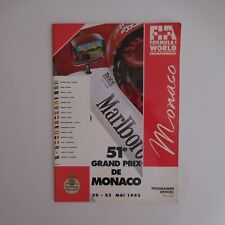 FORMULA 1 CHAMPIONSHIP 51e Grand Prix de Monaco 1993 Programme officiel N4011
