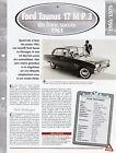 VOITURE FORD TAUNUS 17 M P 3 - FICHE TECHNIQUE AUTO 1961 COLLECTION CAR FRANCE