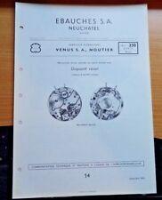 Technische Information Venus S.S.,Moutir Kaliber 12 1/4 230 Wecker