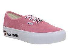 Para mujer Vans Rosa Lona Con Cordones Zapatillas Size UK 5   Ex-Display 6838b5bb0b4b