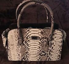 NEW Michael Kors Genuine Python Leather Gia Satchel