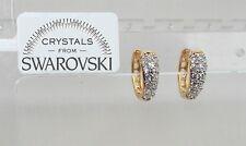 Orecchini da donna p. oro 18K zirconi cristalli swarovski veri SW8/6 bianchi