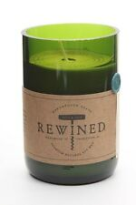 Recycled Wine Bottle Rewined Candle - Pinot Grigio -Soy Wax 60-80hrs Burn Time