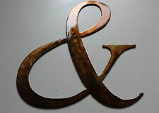 & Sign Copper/Bronze Plated Metal Wall Decor