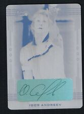 Igor Andreev signed autograph auto 2013 Ace Authentic LEAF Black Plate 1/1