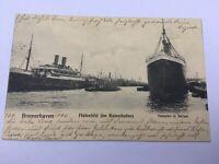 AK Alte Karte Bremerhaven Kaiserhafen Dampfer 1906