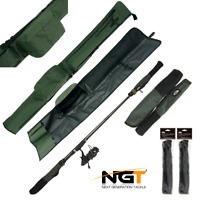 2+2 ECO ROD HOLDALL BAG FOR 2 RODS + 2 SETS TIP BUTT PROTECTORS CARP FISHING