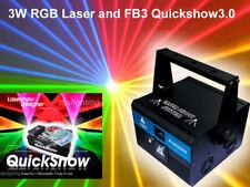 3000mW RGB ILDA stage Full Color 3W Laser light projector & Pangolin Quickshow