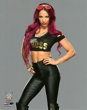 "SASHA BANKS WWE PHOTO OFFICIAL STUDIO WRESTLING 8x10"" PROMO"