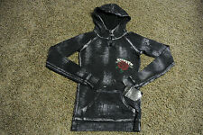 AFFLICTION SINFUL Hoodie Sweatshirt S NWT$148 Skull & Roses-Black-Handcrafted!