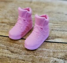 Classic Pink Barbie Doll/Teen Skipper Faux Lace Tennis Shoes Sneakers Trainers