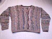 *Vintage Authentic Coogi Australia XL Mens 100% Mercerized Cotton V-Neck Sweater