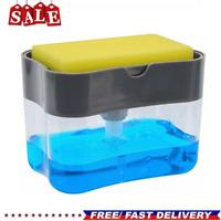 2-in-1 Soap Pump Dispenser & Sponge Holder for Dish Soap & Sponge for Kitchen
