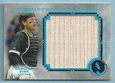 CARLTON FISK 2013 TOPPS MUSEUM COLLECTION CERTIFIED JUMBO RELIC GAME BAT # 5/5