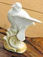 "Vintage LEFTON #KW4037 Porcelain Love Birds White Dove Figurine  6 1/4"" H"