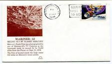 1974 Mariner 10 Second Fly By Planet Mercury South Pole Pasadena Skylab NASA USA