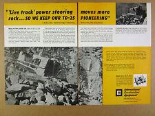 1960 IH International TD25 Crawler blue ridge parkway excavation vintage Ad