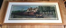 Framed Carriage Print North Staffordshire Railway Train Entering Stone Junction