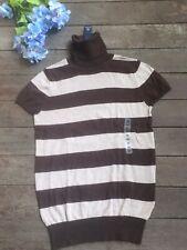 GAP Cotton/Cashmere Turtle neck short sleeve striped Sweater Women's Size XS NWT